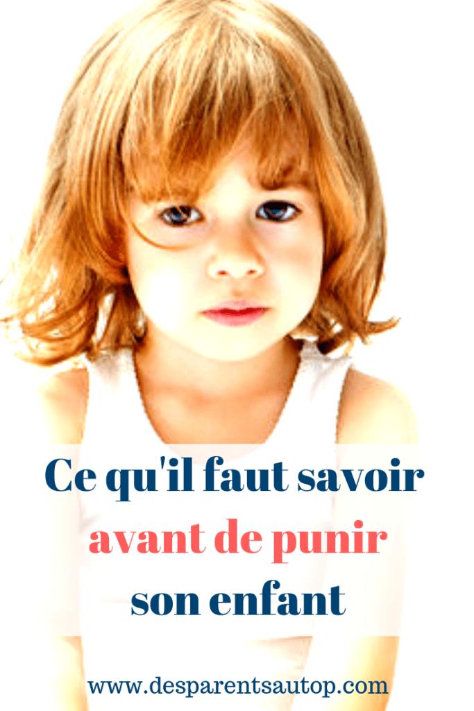Ce qu'il faut savoir avant de punir son enfant, les 4 R de la punition et leurs conséquences