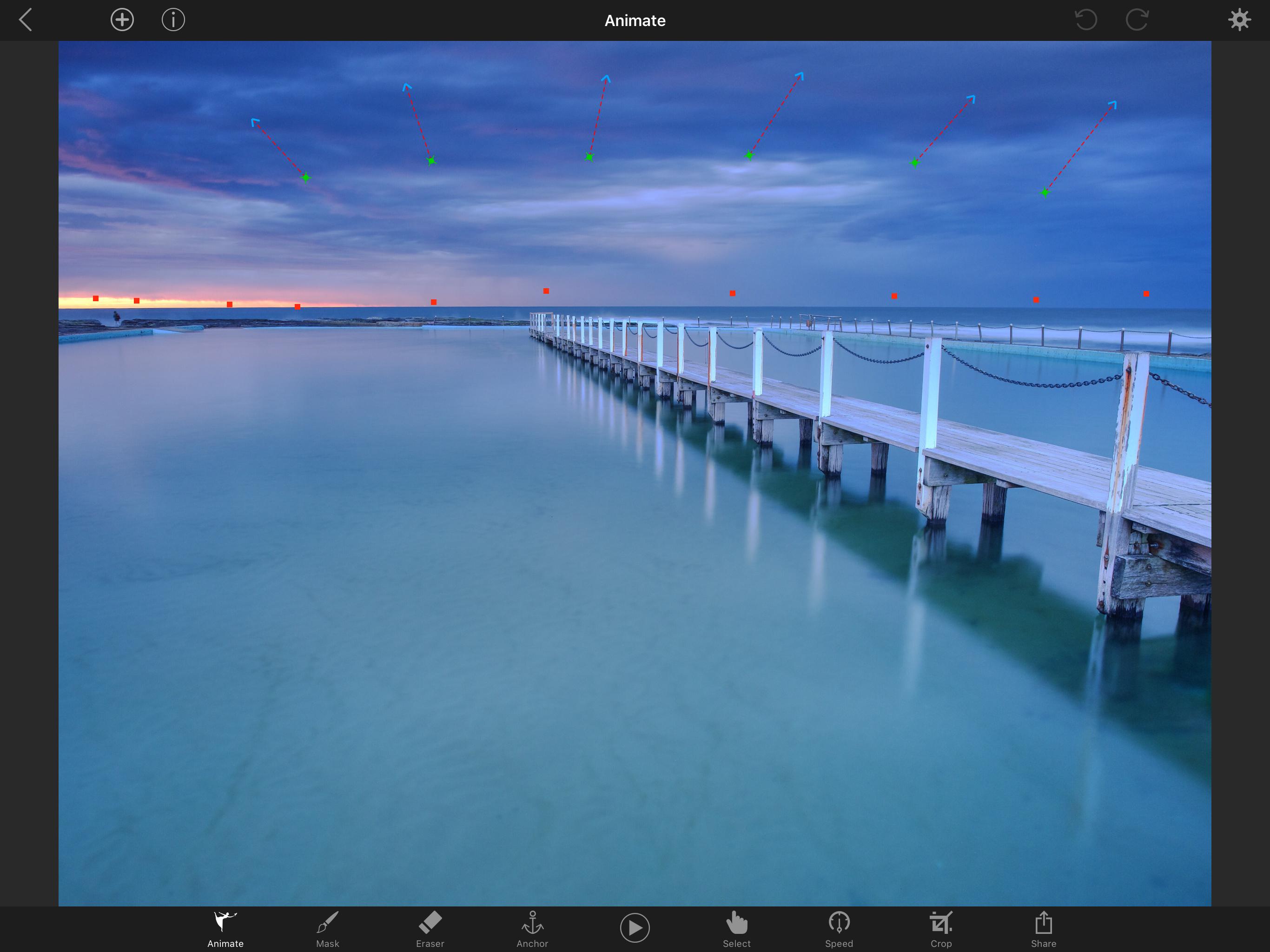 Plotagraph+ edits in progress on iPad