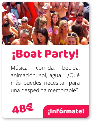 boat party Platja d'Aro