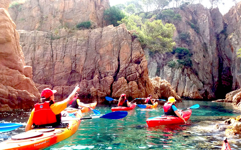 kayaks actividades para despedidas