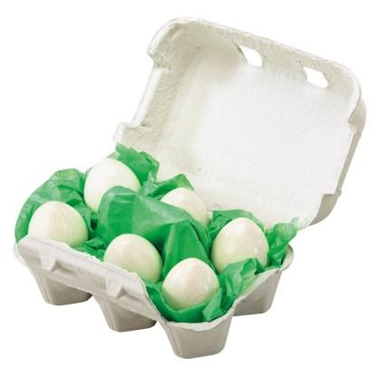 6 eieren in een doos