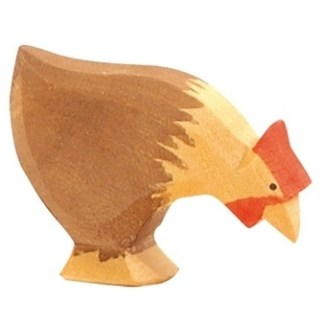 Ostheimer kip bruin pikkend