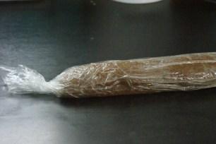 Le boudin de pâte filmé