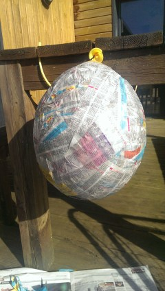 Piñata in progress - @desperatecouchpotatoe