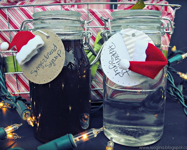 Flavored Coffee Syrups: Gingerbread & Peppermint