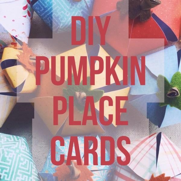 DIY Pumpkin Place Cards