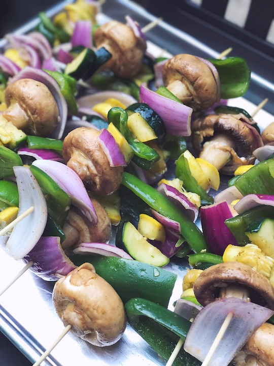 How to make the BEST Fajita Veggie Skewers