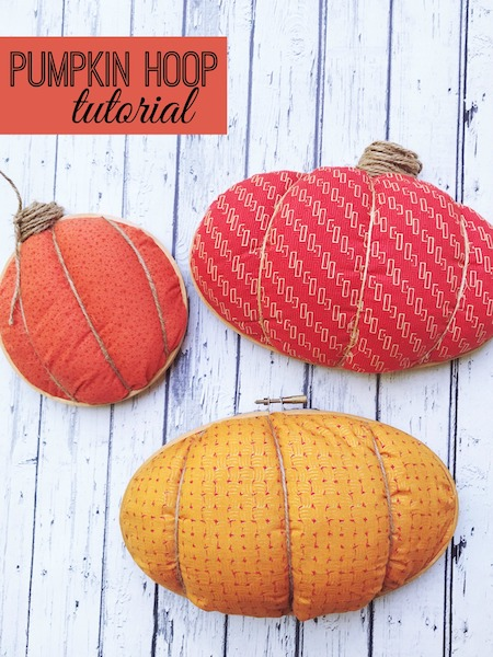 Pumpkin hoop tutorial for fall inspired crafting and pumpkin lovers via Desperately Seeking Gina.