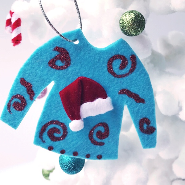 Last Minute Ugly Sweater Ornament Crafts via Desperately Seeking Gina