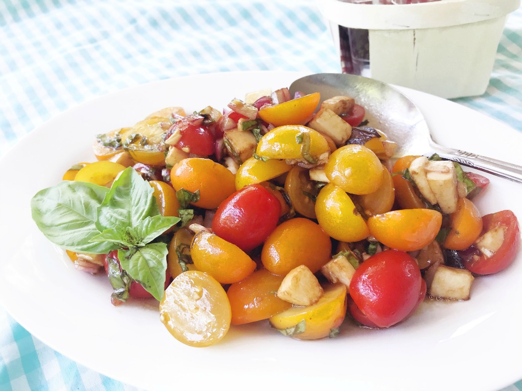 Light and delicious Balsamic Tomato Salad perfect for summer meals.