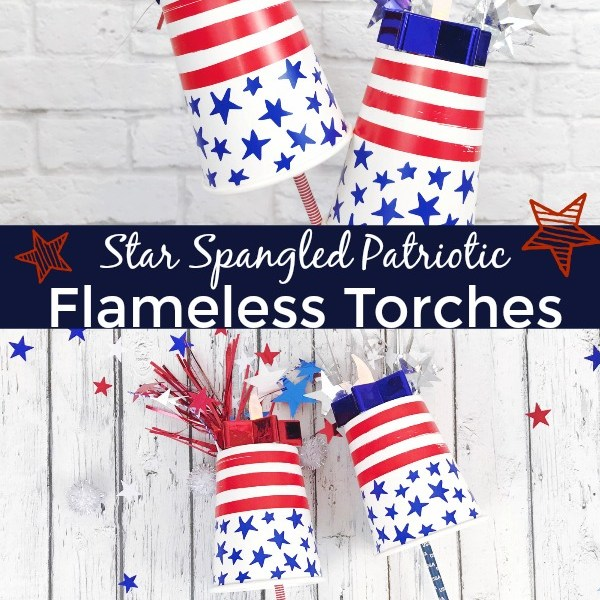 Patriotic Flameless Torches