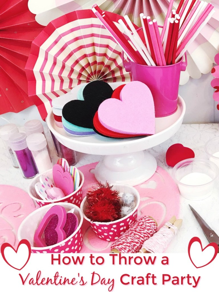 How to throw a Valentine's Day Craft Party for kids that will have everyone talking for ages. #craftparty #valentinesday #dsgblog