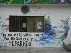 Pintada motivacional en pared