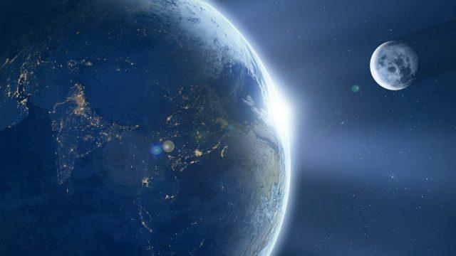 ¿Cómo se llegó a originar la luna?