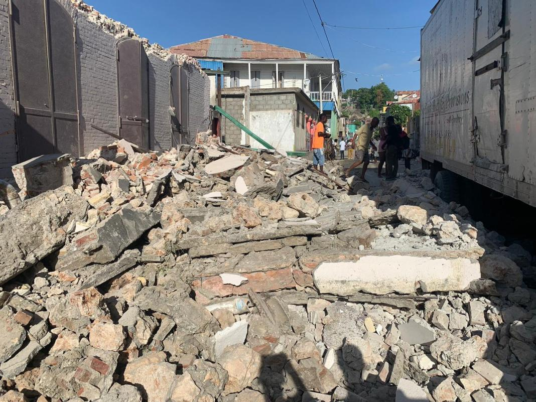 Video | El estremecedor momento en que se registró temblor en Haití