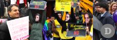 Políticos presentes y Flashmob de Amnistía que mostraba que opinaban los candidatos de primarias.