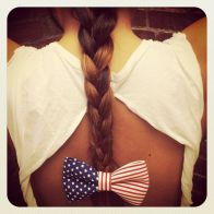 Cinta para el pelo con la bandera de USA