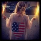 Mujer: chaleco con la bandera de EE.UU. En Pinterest.