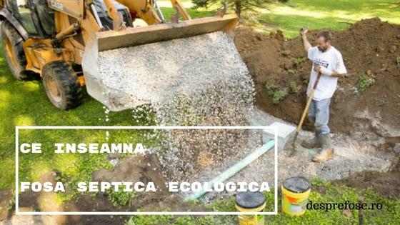 Ce Inseamna Fosa Septica Ecologica?