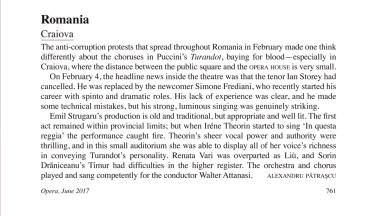 Cronica Turandot - Craiova