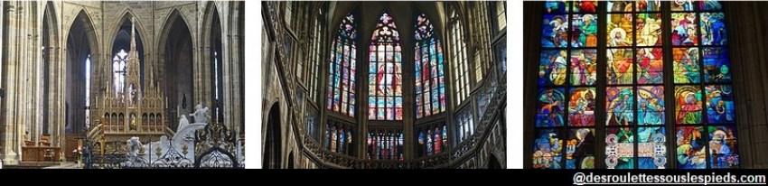 Château de Prague Cathédrale Saint Guy détails intérieur