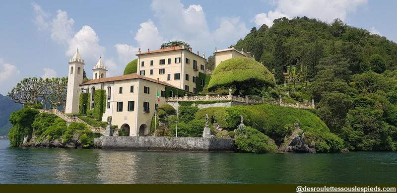 Lac de côme arrivée villa balbianello