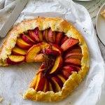 Rustic Peach tart