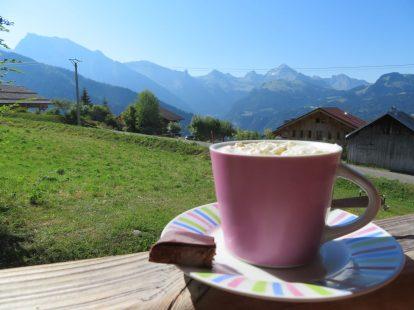 Tasje koffie in de Alpen