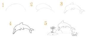 Read more about the article Dessiner un dauphin qui saute hors de l'eau