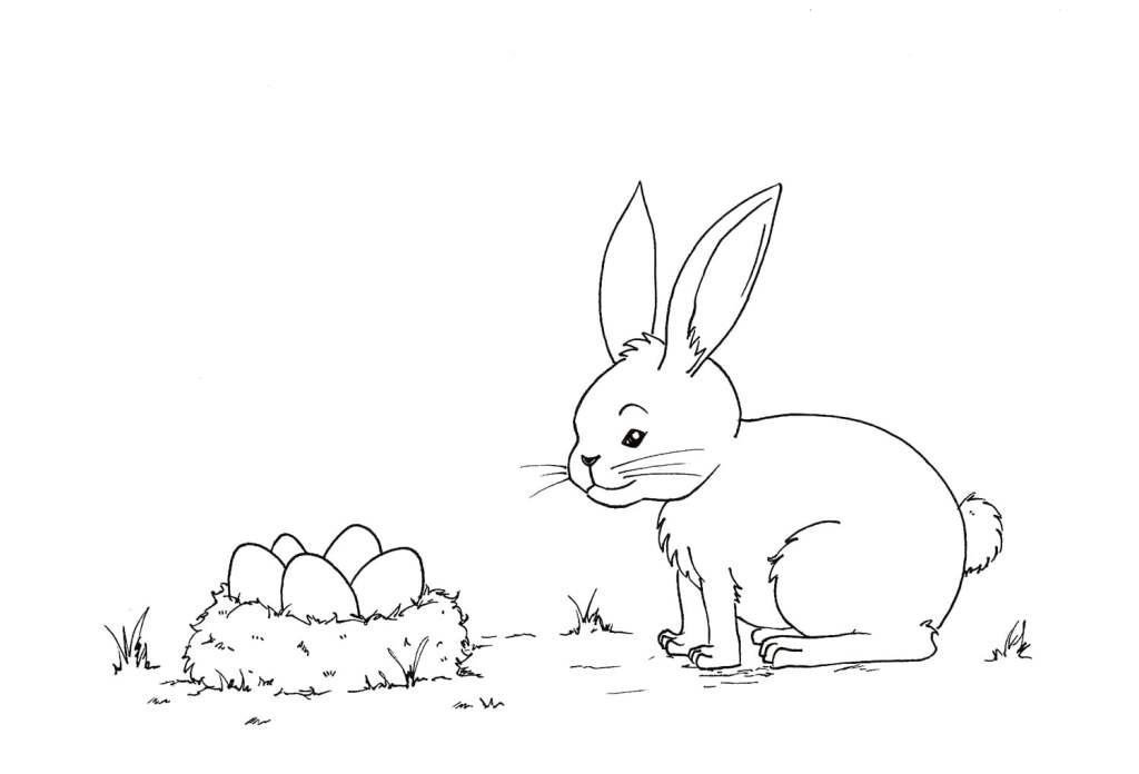 Un lapin à colorier
