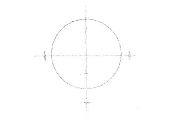 la forme de base du dessin d'une fraise: un rond ou ovale
