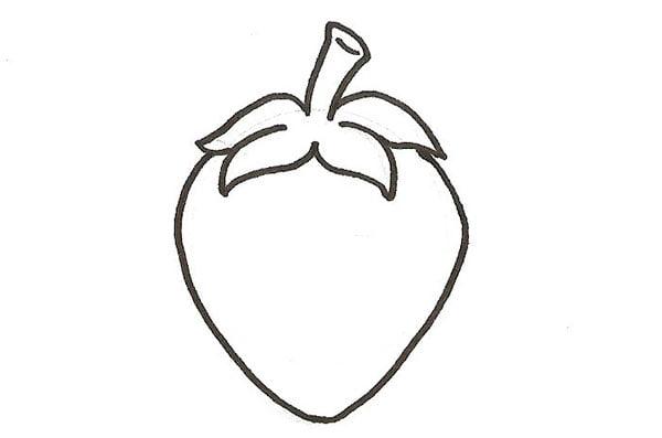 encrage du dessin d'une fraise