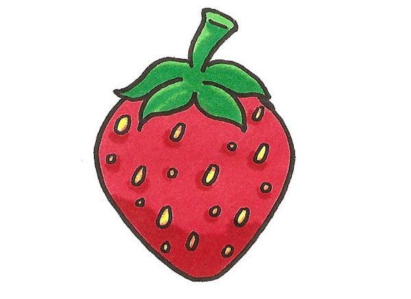 Colorier une fraise
