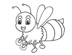 dessiner les contours de l'abeille au feutre noir