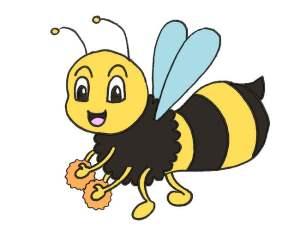 coloriage d'une petite abeille toute mignonne