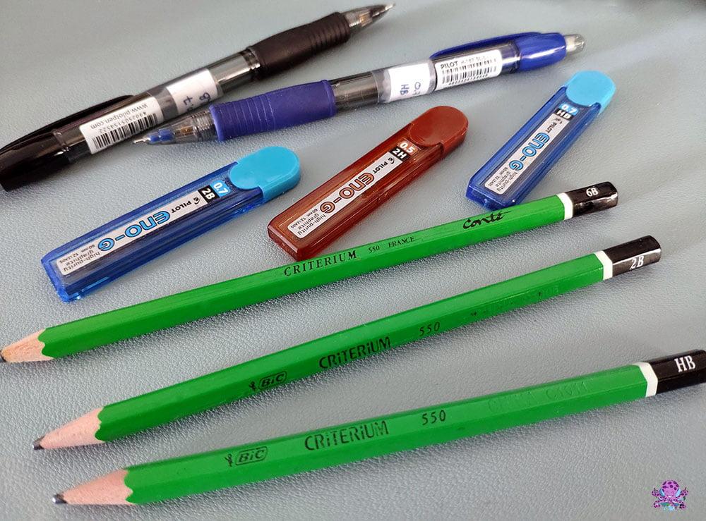 Le 2ème matériel essentiel pour commencer à dessiner : un crayon à papier