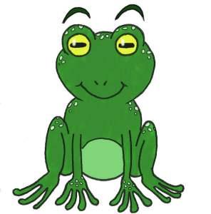 coloriage du dessin de grenouille de face