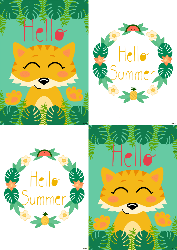 Dessinemoiunelicorne-Cartes-Jungle-Summer