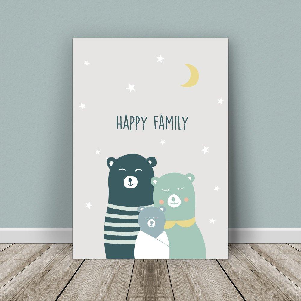 Affiche Personnalisable FAMILLE OURS CHIC ET TENDANCE