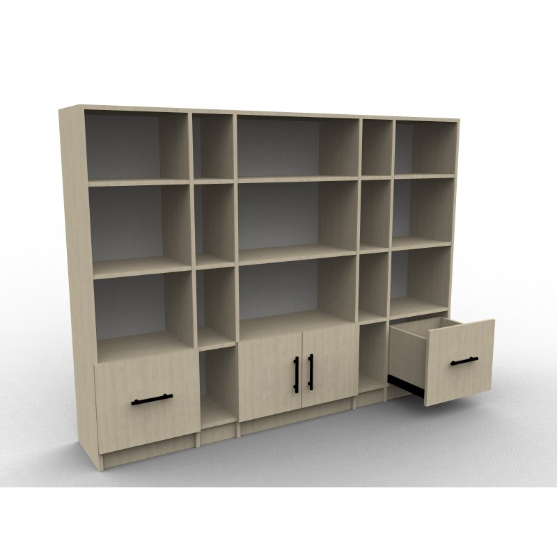 grande bibliotheque sur mesure en bois sur mesure