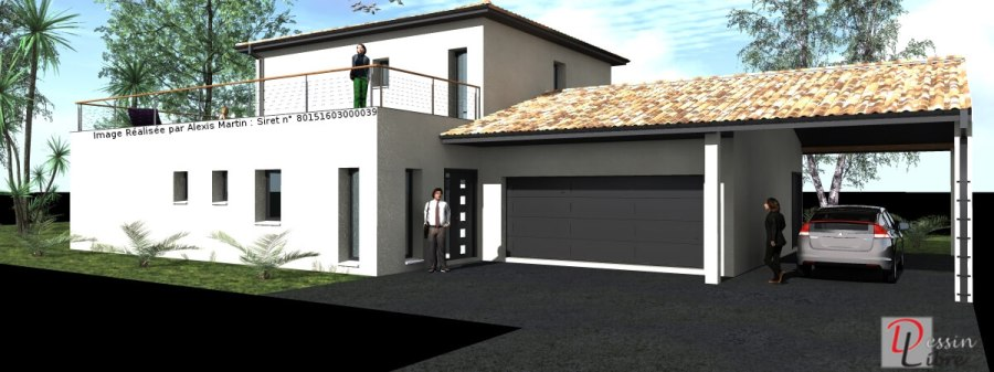 Maison Moderne à Etage Type T5 de 150 m² – DAUX (31)