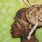 Dessin portrait l'Africain au chapeau