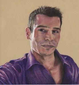 Portrait individuel : dessin d'après photo d'un jeune homme