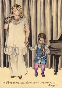 portrait-dessin-d-après-photo-famille-mère-et-fille