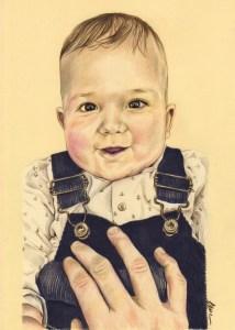 portrait-dessin-d-après-photo-bébé-petit-garçon-2