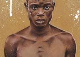 Portrait dessin d'un jeune homme ghanéen