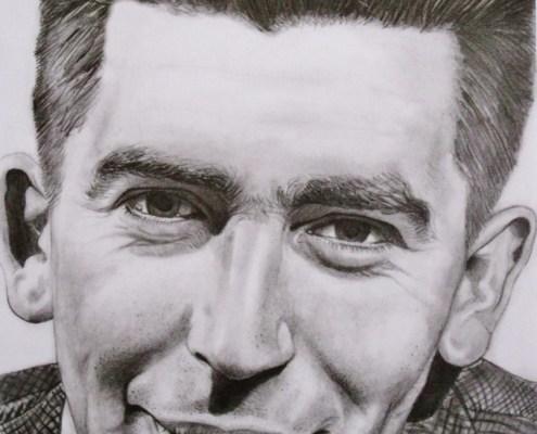 Portrait dessin individuel d'un homme en costume