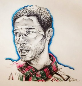 Portrait stylisé d'un jeune homme