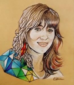 Portrait stylisé d'une jeune femme