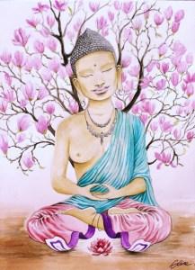 Tara blanche au magnolia